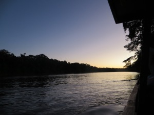 Dusk on the Manu River