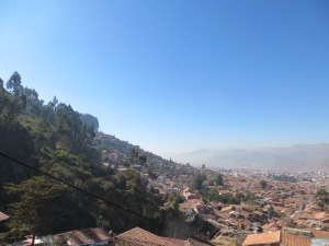 View of Cusco from the top of the city