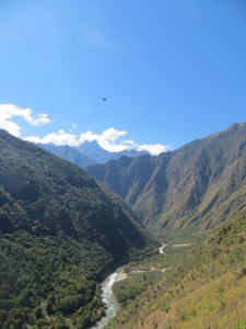Urubamba valley from the Inca Trail