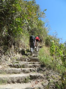 Stairs on the short Inca Trail