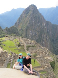 Chris and I in front of Machu Picchu