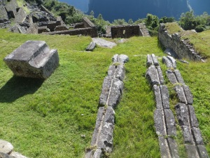 Irrigation channels for agriculture at Machu Picchu