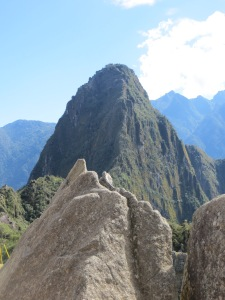 Mountain sculpture at Machu Picchu