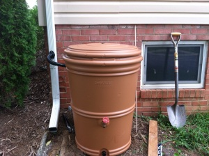 Completed rainbarrel