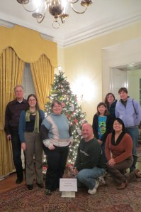 Rockville Bicycle Advisory Committee and its Christmas tree