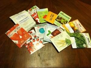 Seeds from seed exchange