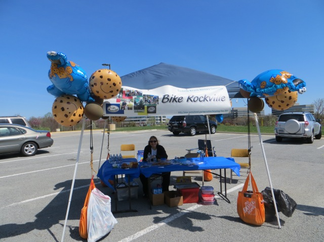Tour de Cookie Rockville Bicycle Advisory stand